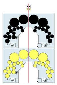 печатная башня 2+2 из модулей арочного построения