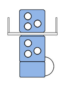 2 вертикальные секции типа Y для печати 4+2 в машине Manugraph Starline S30