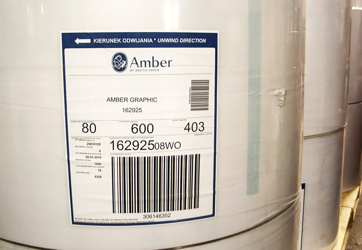 рулоны офсетной бумаги Amber Graphic