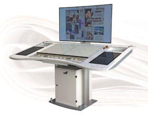 новый пульт EAE Desk 7 для рулонных газетных машин, дебют на Drupa 2016