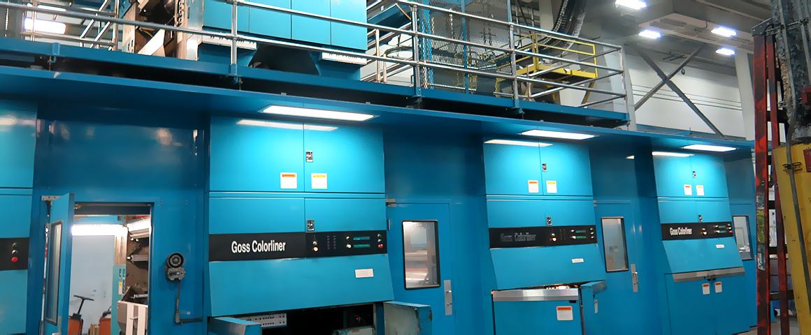 Арочное построение печатных башен машины Goss Colorliner