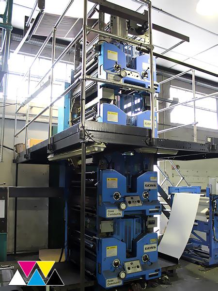 4Hi печатная башня (4+4) Goss Community SSC, 2011 года выпуска