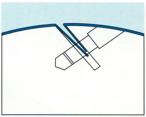 щелевая заключка печатных форм Goss Magnum 4