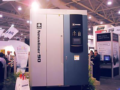 печатная секция машины Goss Newsliner 90 на выставке Nexpo 2005 (Даллас, США)