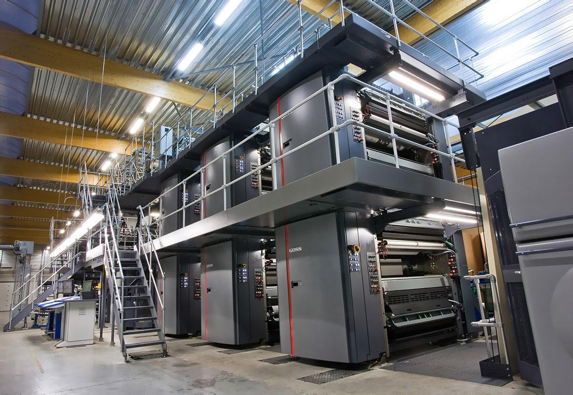 Goss Universal XL (4x1) в типографии Union Printing, Viterbo (Italy)