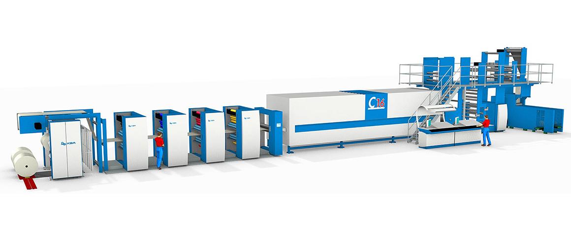 16-страничная heat-set машина для акцидентной печати KBA C16