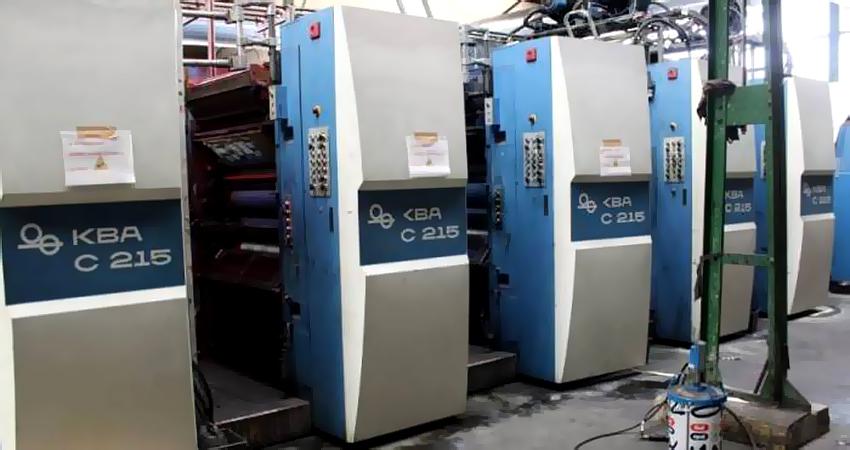 16-страничная heat-set ротация KBA Compacta C 215