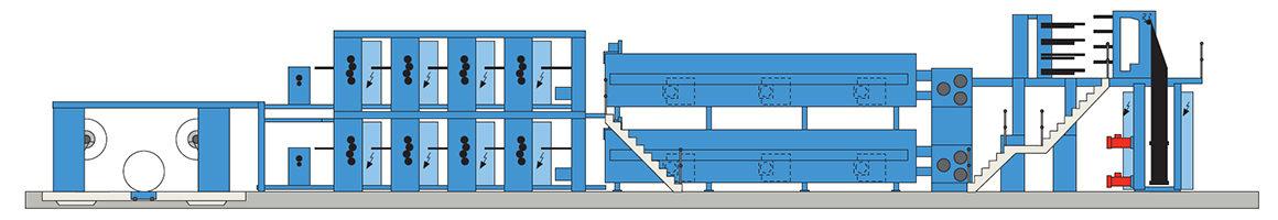 многоярусное построение KBA Compacta 215 (8 печатных секций)