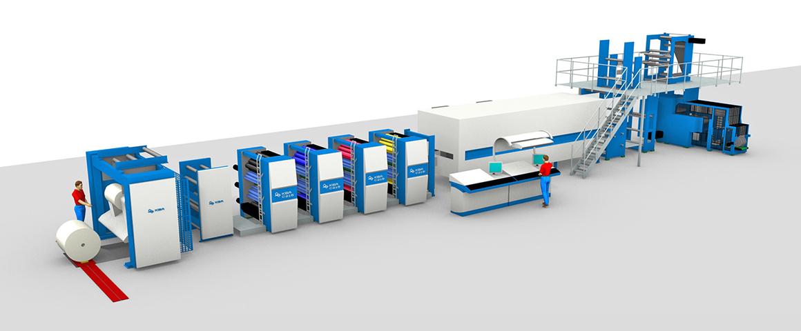 16-страничная машина для акцидентной печати KBA C 215 (сухой офсет)