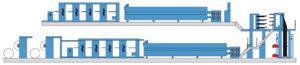 многоярусное построение KBA Compacta 217 (8 печатных секций)