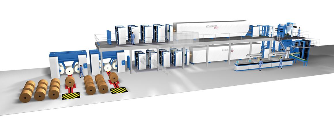 16-страничная машина для коммерческой печати KBA C 217 (ярусное построение)