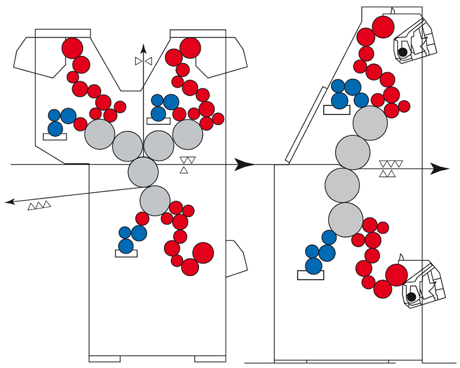 """вариант агрегатирования печатных секций """"Y""""-образной и """"I""""-образной конфигурации"""