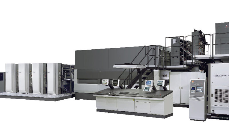 схема построения рулонной журнальной машины Komori System 38S