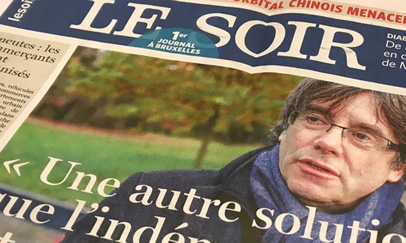 Le Soir - основная франкоязычная газета в Бельгии в формате berliner