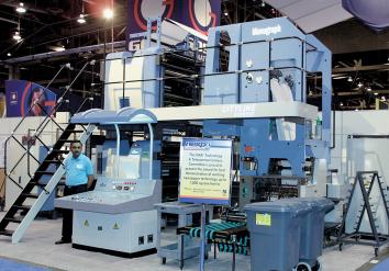 презентация Manugraph Cityline Express на выставке NEXPO '03 (Лас-Вегас, США)