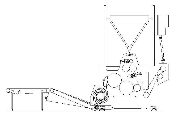 схема фальцаппарата Manugraph F-122