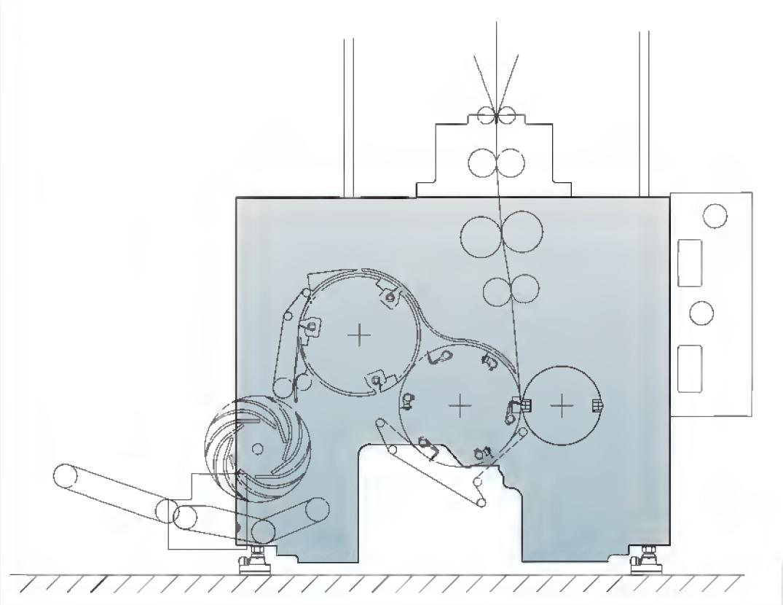 схема фальцаппарата Manugraph F233 (2:3:3)