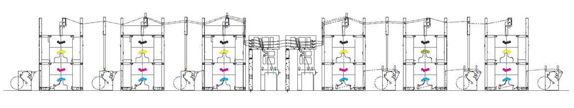 вариант построения рулонной машины Manugraph Hiline Express