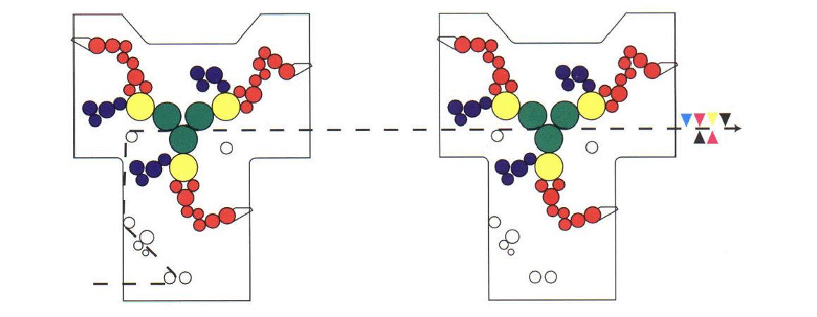 две печатные секции Mercury Y в линию (печать 4+2)