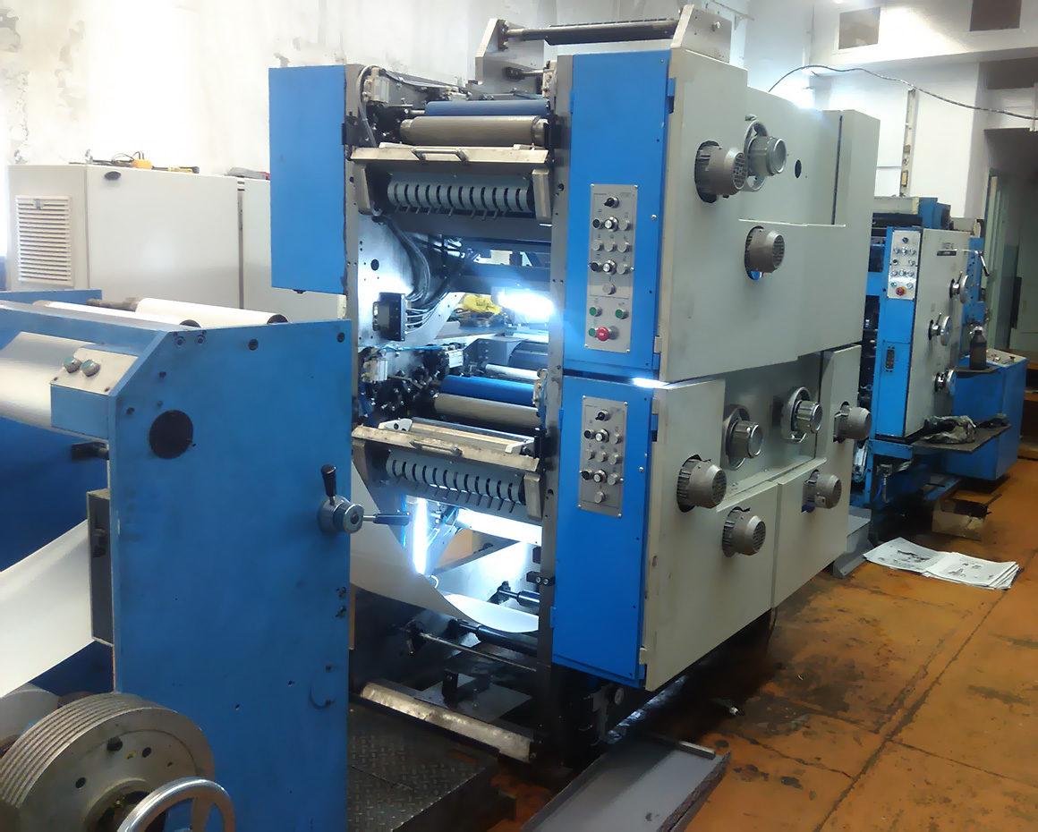 рулонная офсетная печатная машина ПОГ42-131