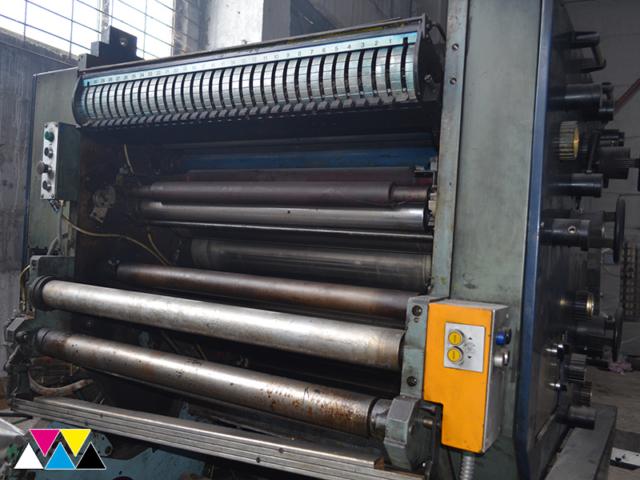 красочный аппарат Y-печатной секции Solna D30, рубка 560 мм
