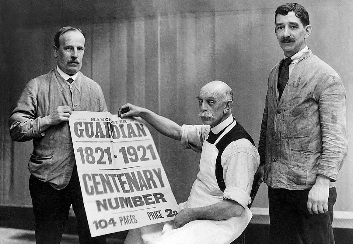 газета The Guardian, 1921 год