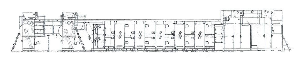 схема построения машин Zirkon Forta 660 (VEB Polygraph)