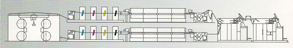 двухъярусное построение книжно-журнальной рулонной машины Zirkon 6611