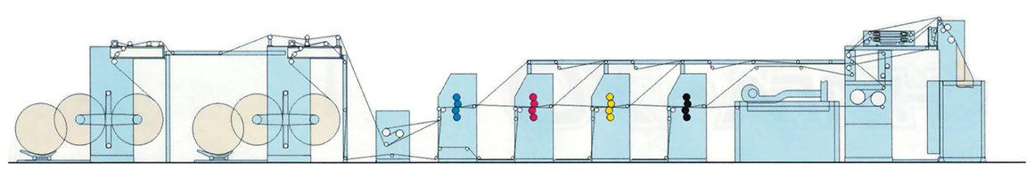 рулонная офсетная печатная машина Книга-70-241-01