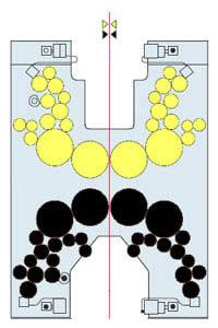 H-образная конструкция красочностью 2+2