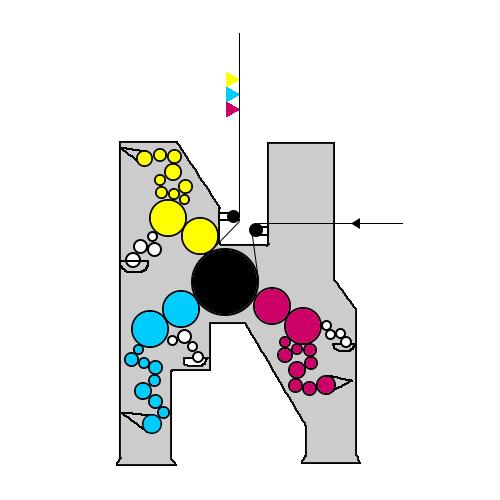 схема построения 3-х красочной 3SC секции