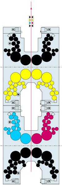 печатная башня 4+4 из двух H-образных комбинаций