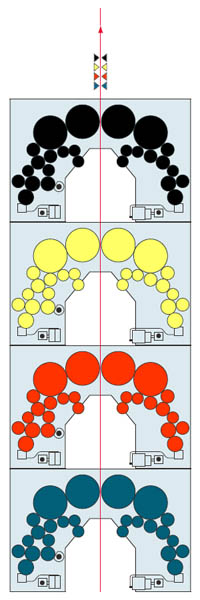 печатная башня 4+4 из модулей арочного построения