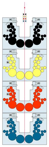 печатная башня 4+4 из U-образных моно модулей