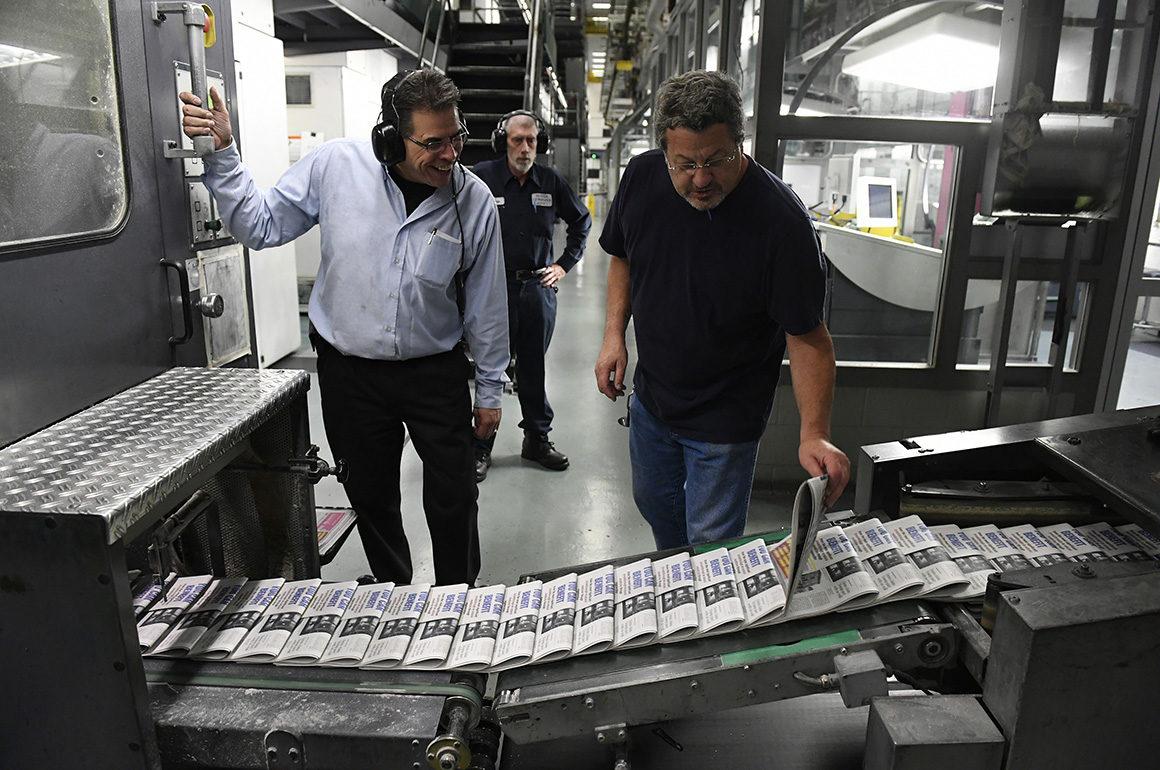 печать газеты Denver Post на машине MAN Geoman