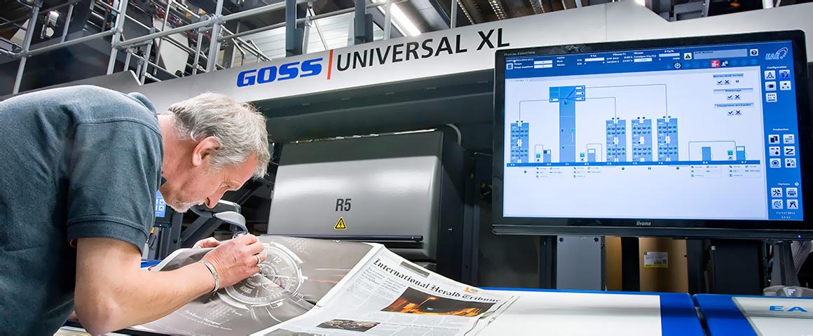 ролевая газетная машина Goss Universal XL