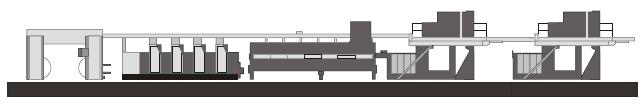 схема построения рулонной офсетной журнальной машины Heidelberg WEB-16