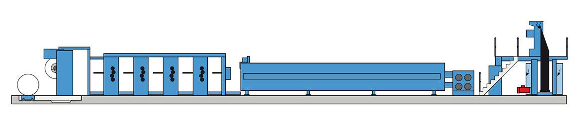типичное построение Koenig & Bauer C16 (16-страничная, Heat-Set)