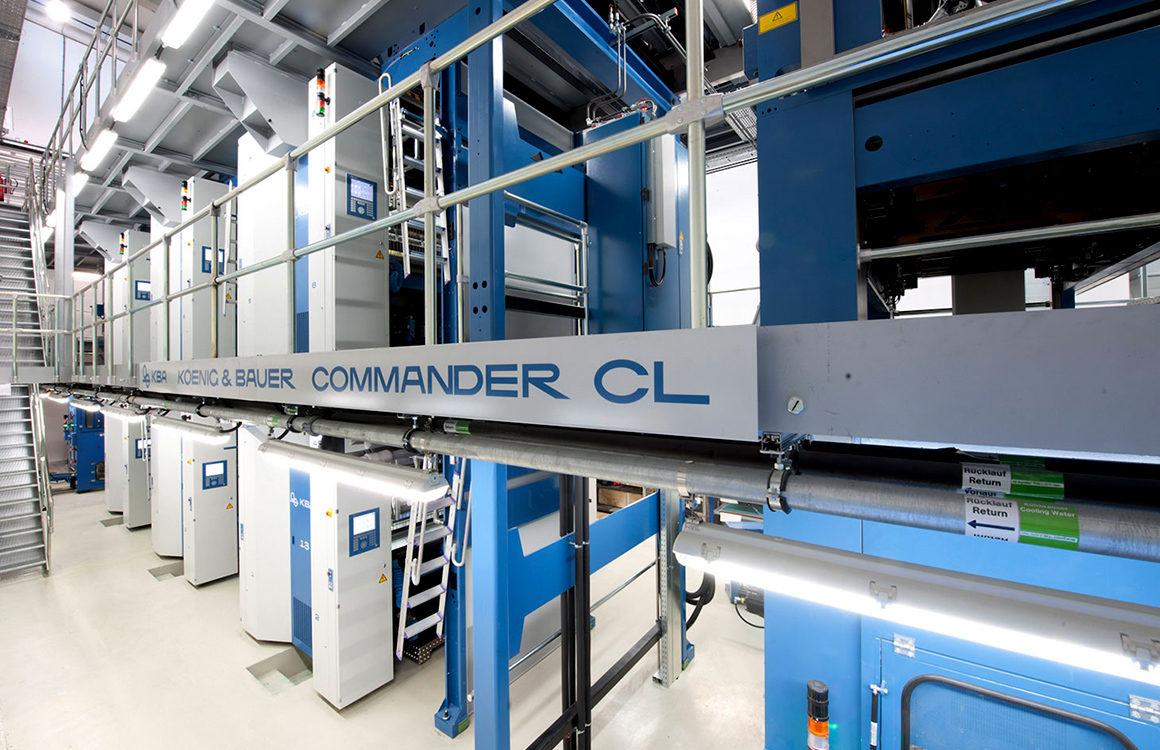 рулонная офсетная машина KBA Commander CL