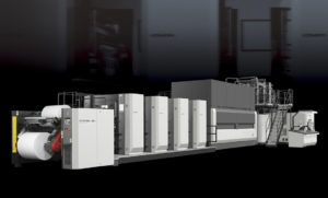16-страничная рулонная машина Komori System 38S для печати журналов