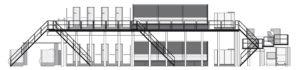 многоярусное построение ролевой машины Komori System 38S
