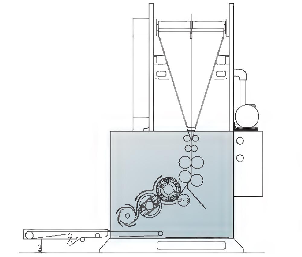 схема фальцаппарата Manugraph DGM F1240