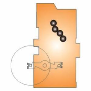 печатная I-секция (1+1) со встроенной зарядкой (Hiline)