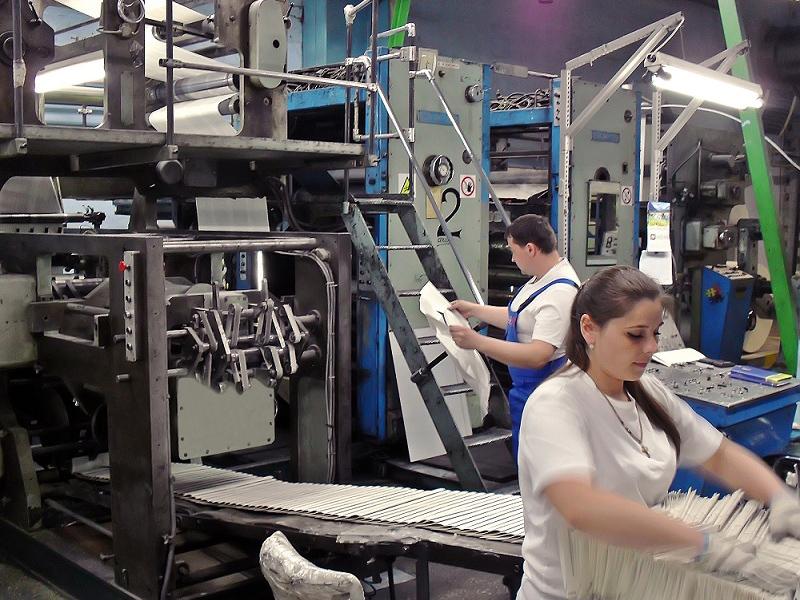 """печатная машина ПОК84 на книжной фабрике """"Юнисофт"""", г. Харьков, Украина"""