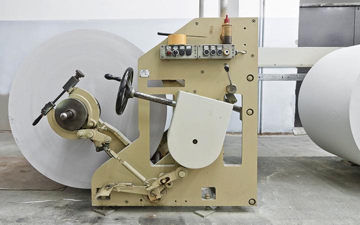 рулонная зарядка со шпиндельным креплением и фрикционным тормозом (Zirkon RO-66)