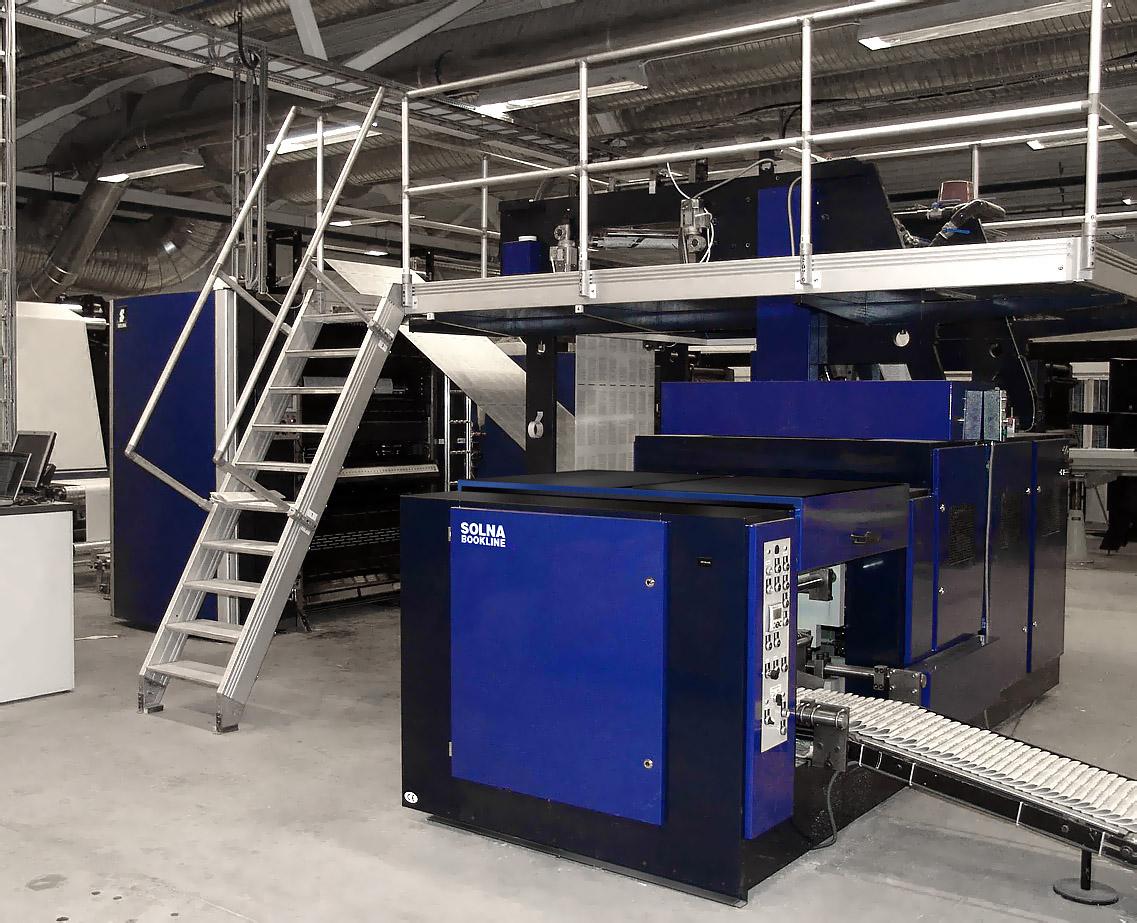 рулонная машина Solna BookLine для печати книг