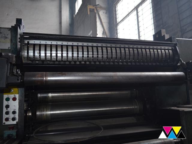 верхний красочный аппарат Y-печатной секции Solna D30, рубка 560 мм