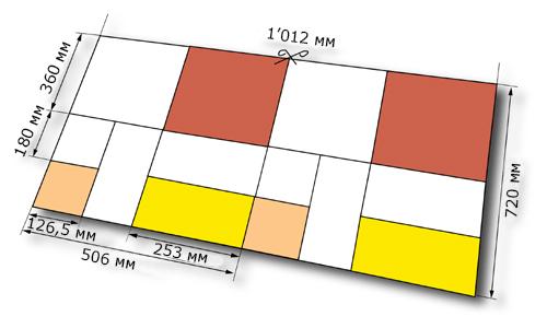 размеры сфальцованных тетрадей Ultraset 72 (РО-72)