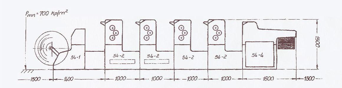 схема построения рулонной печатной Polygraph Ultraset RO-62