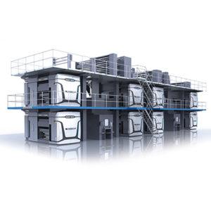 современная рулонная машина для газетной печати manroland COLORMAN e:line